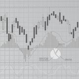 Gray finance background. Gray business background with candlesticks Royalty Free Stock Photo