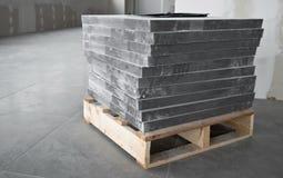 Gray floor tiles Royalty Free Stock Image