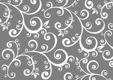 Gray floral background Royalty Free Stock Photography