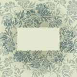 Gray floral background Royalty Free Stock Image