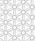 Gray floral with hatching Stock Image