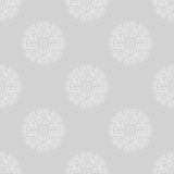 Gray floral motif seamless background. Vector stock illustration