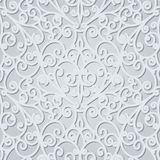 Gray floral pattern Stock Image