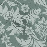Gray Floral Pattern.  Royalty Free Stock Images