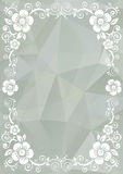 Gray floral pattern Stock Images