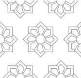 Gray floral pattern. Seamless for backdrop Stock Photos