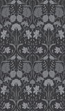 Gray floral pattern. Seamless filigree ornament. Monochrome ornament for wallpaper, textile, carpet Royalty Free Stock Photos
