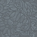 Gray floral pattern Stock Photography