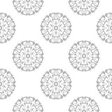 Gray floral pattern on white. Seamless background Stock Image