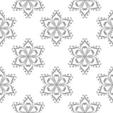 Gray floral pattern on white. Seamless background. Light gray floral ornament on white. Seamless pattern for textile and wallpapers Royalty Free Stock Photos