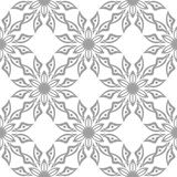 Gray floral seamless design on white background. Light gray floral design on white background. Seamless pattern for textile and wallpapers Royalty Free Stock Photos