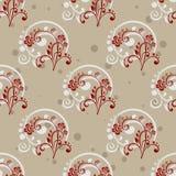 Gray Floral Seamless Pattern Royalty-vrije Stock Fotografie