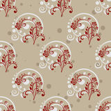 Gray floral seamless pattern Royalty Free Stock Photography