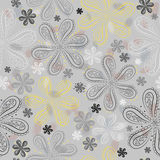 Gray floral seamless pattern Stock Photography
