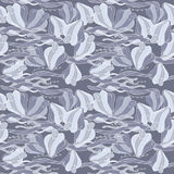 Gray floral seamless Royalty Free Stock Photos