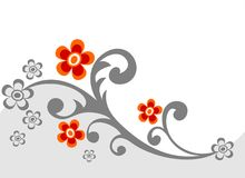 Gray flower background Royalty Free Stock Photography
