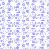 Gray flowers on white background. Vector seamless pattern Stock Photography