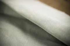 Gray Folded Cloth Fabric Swatch Arkivbilder