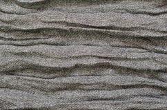 Gray folded fabric texture Stock Photography