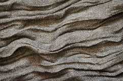 Gray folded fabric texture Royalty Free Stock Images