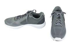 Gray Footgear sur le blanc Image stock