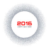 Gray  Frame New Year 2016 Snow Flake Circle Stock Photo