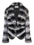 Gray fur coat Stock Photo