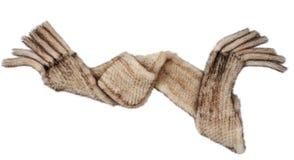 Gray fur scarf Stock Photo
