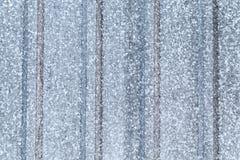 Gray galvanized ridged steel sheet. Flat background photo texture Stock Images