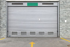Gray garage door Royalty Free Stock Image