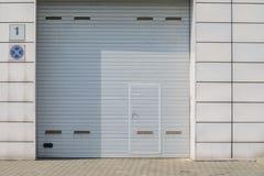 Gray Garage Gate fotos de stock