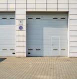 Gray Garage Gate fotos de stock royalty free