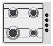 Gray gas stove Royalty Free Stock Photography