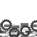 Gray gears. Over abstract background. vector illustration Stock Illustration