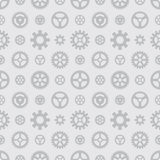 Gray gears seamless pattern. Against the light-gray background. The layout is fully editable royalty free illustration