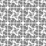 Gray geometric with layering Royalty Free Stock Photos