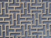 Gray geometric pattern Royalty Free Stock Image