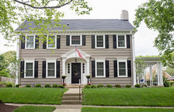Gray Georgian Colonial Home foto de stock