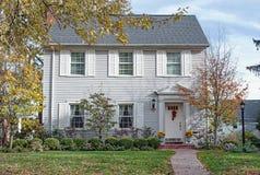 Gray Georgian Colonial House ( Foto de Stock Royalty Free