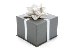 A gray gift Royalty Free Stock Photo