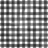 Gray gingham plaid seamless pattern. Watercolor abstract geometric gingham plaid seamless pattern. Watercolor gray and white trendy background Stock Photos