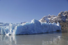 Gray glacier at Torres del Paine National Park Stock Photo
