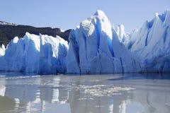 Gray glacier at Torres del Paine National Park Stock Photos