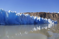 Gray glacier at Torres del Paine National Park Royalty Free Stock Photo