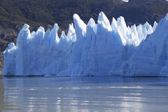 Gray glacier at Torres del Paine National Park Royalty Free Stock Images