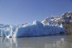 Gray glacier at Torres del Paine National Park Stock Image