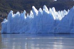 Gray glacier at Torres del Paine National Park Stock Images