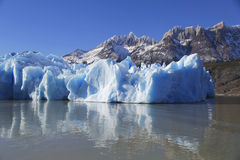 Gray glacier at Torres del Paine National Park Royalty Free Stock Photos
