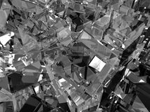 Gray glass cubes Royalty Free Stock Image