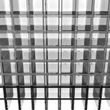 Gray glass rack Royalty Free Stock Photography